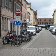 Traffic calming area in Erlangen