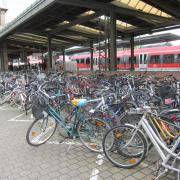 Cycle parking at Erlangen station