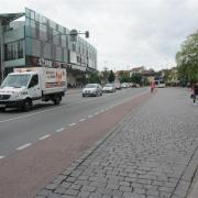 Advisory cycle lane in Erlangen