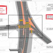Plans for proposed bus gate at Bath Row