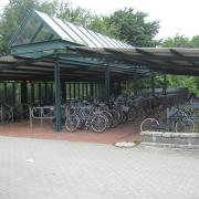 Cycle parking at Preetz station