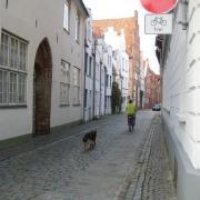 Contraflow cycling in Lübeck