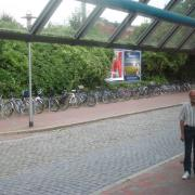 Cycle parking at Neumünster bus station