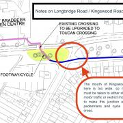 Notes about the junction of Kingswood Road and Longbridge Road.