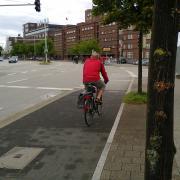 Segregated cycle path  in Kiel