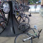 Cycle parking at Leicester Station