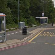 QE bus stop cycle lane