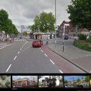A close pass on a cycle lane in Groningen