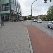 Segregated cycle path in Erlangen