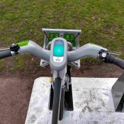 WM hire bike handlebars