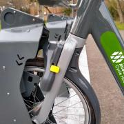 WM hire bike locking mechanism