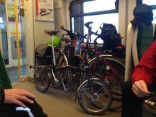 bikes on a train