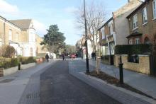 Mini Holland Street in Walthamstow