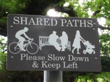 Shared use sign