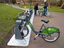 West Midlands hire bike in dock