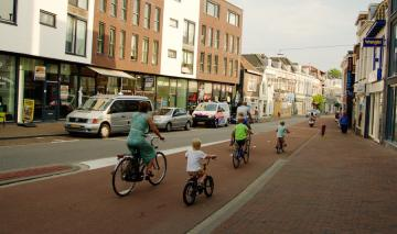 Family cycling in the Netherlands