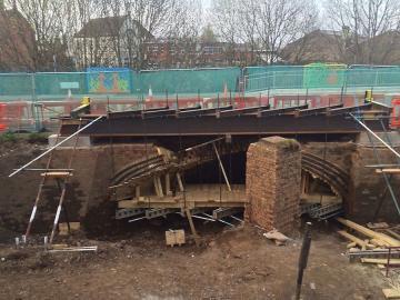 Northbrook St rail tunnel works