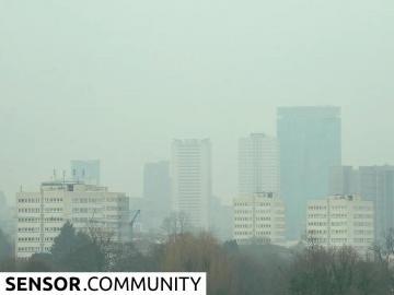 Air pollution seen over Birmingham