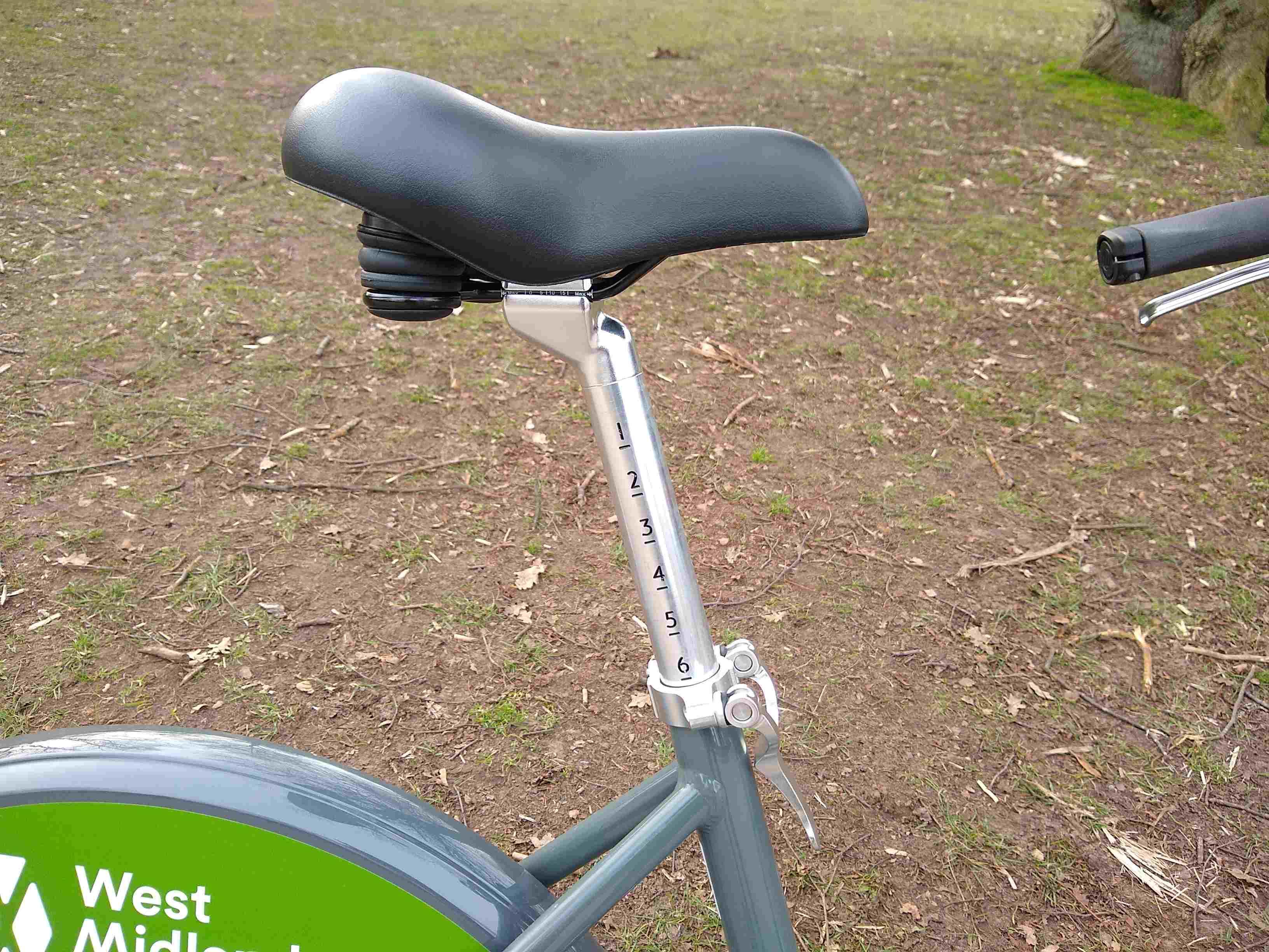 WM hire bike seat